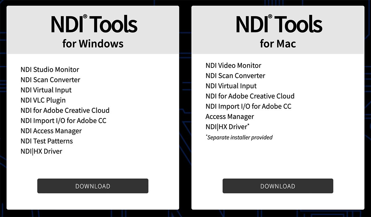 Download NDI Tools