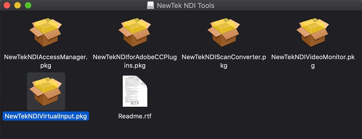 NDI Installation on a Mac