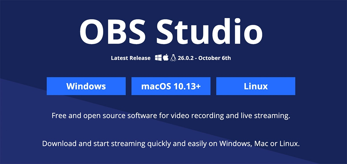 Download OBS Studio