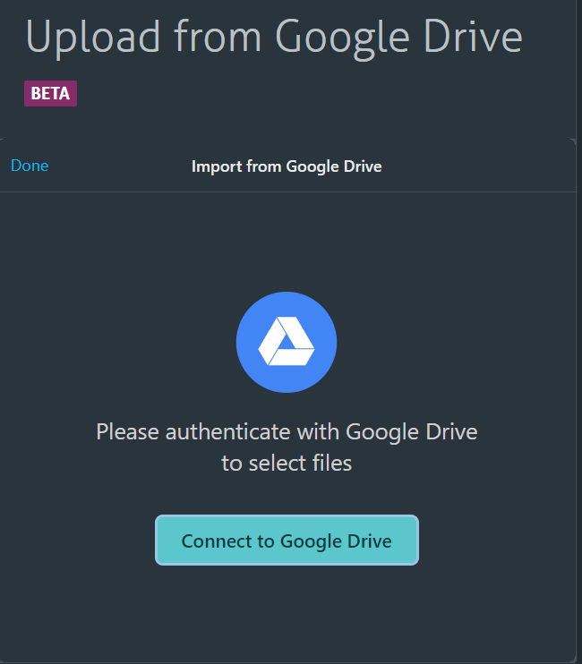 Connect to Google Drive